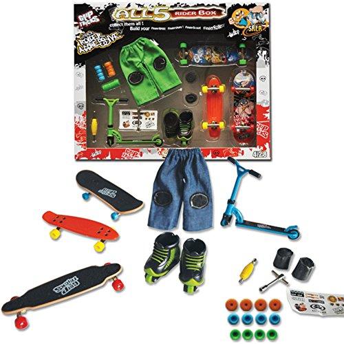 GROSSE BOX 5 Stück - 5RIDER - FINGER SKATES - ROLLER - BMX - SCOOTER - (Mini-scooter Razor)
