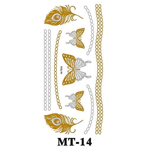 zgmtj Autoadesivo del Tatuaggio Impermeabile del Metallo del Tatuaggio di timbratura Calda Personalizzabile MT-014 10.2 * 21cm