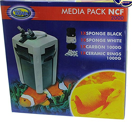 Biotope Aquatics Ltd Aqua Nova NCF 2000 Filter - Karbon & Keramik Ringe & Schwamm