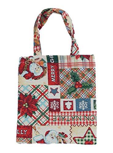 Bowatex Sac cabas sacs plastique Sac Shopper Bag Tapisserie royaltex Signare Motif Merry Christmas étoile de Noël 22 x 26 x 0,5 cm FA