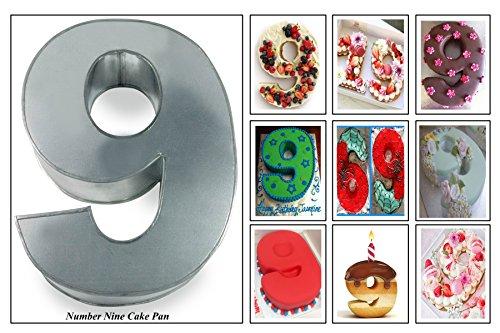 EUROTINS Kuchenform, große 9, Geburtstag/Hochzeitstag– Backform