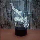 Fushoulu 7 Farbe 3D Led LampeAcryl Led Usb Lampe Touch Zimmertisch Schreibtisch Nachtlicht Nachttischdekoration