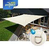 sunprotect 83224 sunprotect Sonnensegel waterproof, 5 x 5 m, Quadrat, creme (1 Stück)