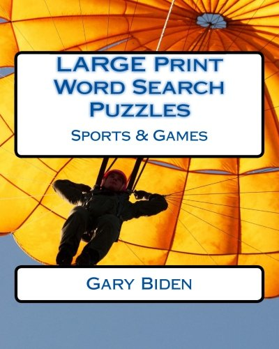 LARGE Print Word Search Puzzles: Sports & Games PDF Books