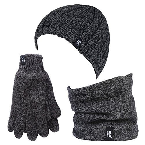 HEAT HOLDERS Herren Handschuhe Gr. Medium/Large, Grau - Grau -