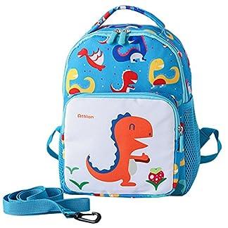 Mochila para niños de dinosaurios, mochila escolar de dibujos animados para niñas pequeñas con mochila preescolar de riendas de seguridad para uso diario de viajes