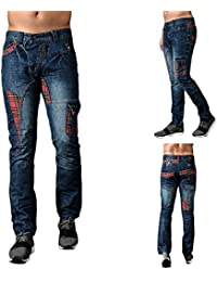 Eto Mens Jeans Trendy Fashion Stylish Engineered Dunky Designer Tapered Fit Denim Pants