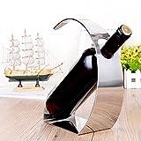 Moderne Arc-Shaped Silber Edelstahl Weinständer, 1 Flasche