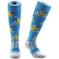 Calcetines deportivos Samson Hosiery®, para hombre, mujer y niño, con estampado de patos, divertido, para fútbol, rugby