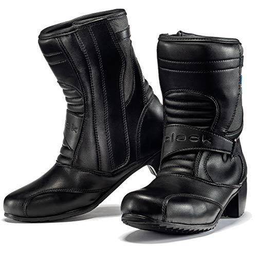 Botas de motocicleta para mujer, color negro, Lucy WP, 39 (UK 5)