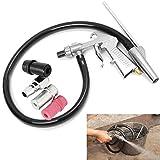 SODIAL Dispositivo de chorro de arena de aire Pistola de chorro de arena + Boquillas + Conector + Kit de herramientas para derretir tubos
