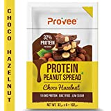 Provee Choco-Hazelnut Protein Peanut Spread -100% Natural - 192 Grams (Pack Of 6 X 32 Grams) - Made With Turkish...