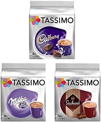 Tassimo T Discos Pods: Chocolate caliente unidades–Milka, Cadbury y Suchard, 32Cápsulas