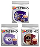 Tassimo T Discs Pods: HOT CHOCOLATE PACK - MILKA, CADBURY,...