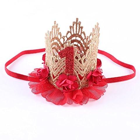 Kalorywee bébé filles élastique Serre-tête Couronne de fleurs Bandeau Headwear
