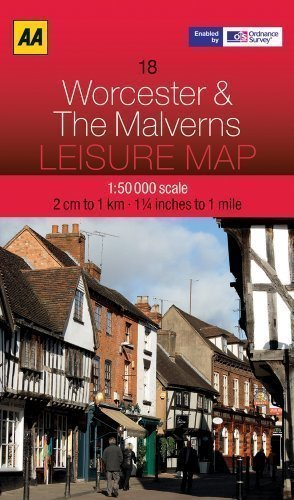 leisure-map-worcester-and-the-malverns-aa-leisure-maps-map-edition-by-aa-publishing-published-by-aa-