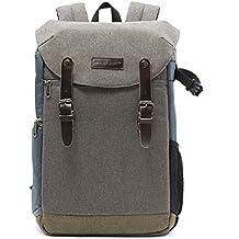 """BAGSMART Zaino per Fotocamera Reflex SLR / 15.6"""" Laptop Borsa Impermeabile con Copertina Anti-Pioggia"""