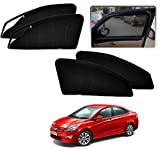 #7: Auto Pearl - Premium Quality Zipper Magnetic Sun Shades Car Curtain For - Hyundai Verna Fludic 4S - Set of 4 Pcs