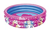 Best_way barbietm 3 bague piscine, Pataugeoire 122 cm x 30 cm, rose