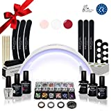 Kit Semipermanente Unghie Professionale Completo  Fornetto UV LED  Smalto Gel Unghie e Primer, Remover, Base Coat, Top Coat  Edition Design Deluxe XXL  Vegan & Cruelty Free Norme CE  Meanail Paris