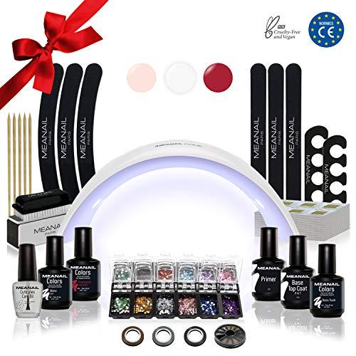 Lampara LED UV Secador de Uñas Esmalte Semipermanente Pintauñas Decoración de Uñas Kit Manicura y Pedicura Nail Factory Edition Deluxe Design