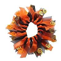 Allsunny Pet Christmas Collar Puppy Dog Colorful Ribbon Neckerchief Halloween Accessory Orange black* L
