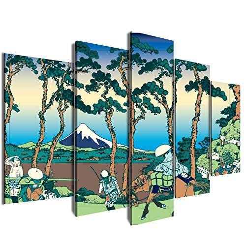 KWYJ® - Cuadro decorativo (80 x 150 cm), diseño de vida japonesa, lona, 15#, Large