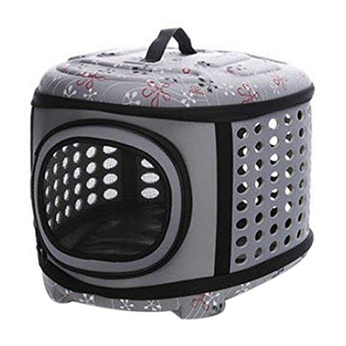 Trageboxen, Likeluk Faltbare Hundebox Haustier Transportbox Klappbar Autobox gepolstert Katzen Henkel Tragetasche,46×35×30cm