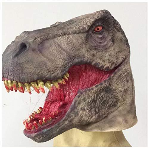 Weird Scary Mask Dinosaurier Kopfbedeckungen Halloween Karneval Weihnachtsfeier Dekoration Latexmaske Bar Haunted House Movie Requisiten Horror Party Maske Erwachsene ()