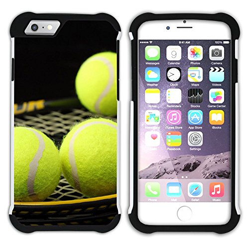 Graphic4You Tennis Ball Sport Hart + Weiche Kratzfeste Hülle Case Schale Tasche Schutzhülle für Apple iPhone 6 Plus / 6S Plus Design #6