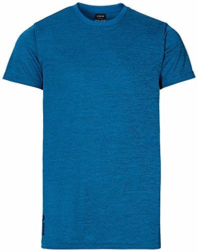 erima Herren T-shirt Green Concept Mykonos Blue Melange