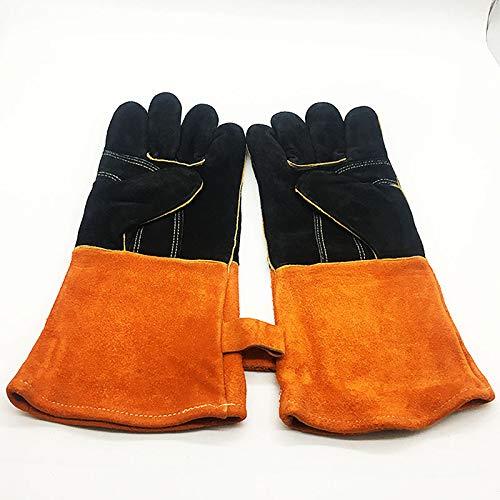 Guante Guantes de cuero, guantes para barbacoa, guantes para parrillas, guantes para...