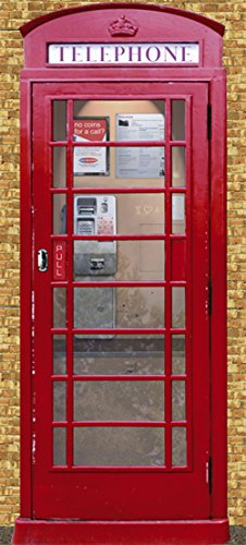 Porta carta da parati TELEPHONE BOX (549V) 90 x 200 cm, 2 parti 45 cm (Box Parati)
