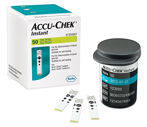 Accu-Chek Instant Test Strips, 50 Count (Multicolor)