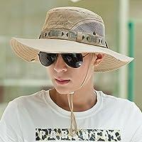 LBY Sombrero del Sol De La Protección del Sol del Sombrero De Paja De Los Hombres del Visera del Sombrero del Verano Sombreros de Sol
