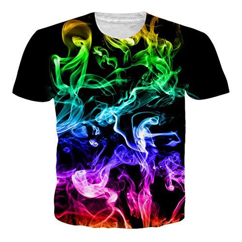 NEWISTAR Unisex Jugend 3D Druck Grafik Casual Kurzarm T-Shirt T-Shirts - Damen Grafik Tees