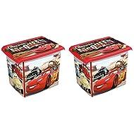 2x Caja para juguetes juguete caja Fashion Caja de Disney Cars 20L