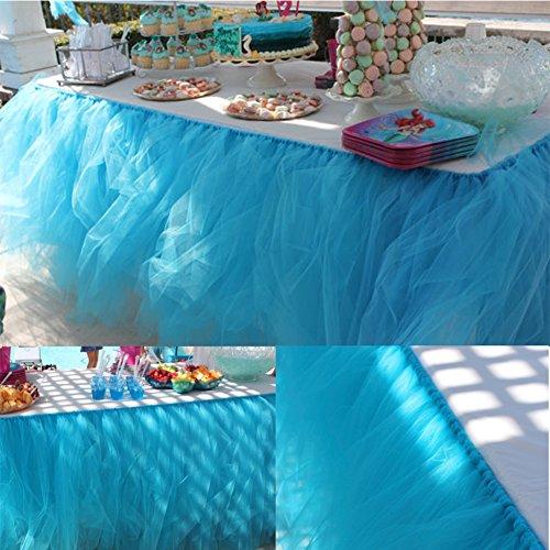 sche Tischdeko mit Tüll, Tischdekoration, Schneeflocke Wonderland Tischdecke, für Baby-Dusche, Hochzeit, Geburtstag, Party, Bar, Prom, Valentinstag Weihnachten (Blau) (Schneeflocken-party)
