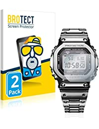 BROTECT Protector Pantalla Anti-Reflejos Compatible con Casio G-Shock GMW-B5000D-1ER (2 Unidades) Pelicula Mate Anti-Huellas