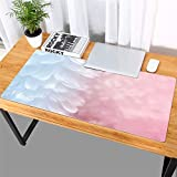 Thboxes Fashion Pattern Oversized Precision Pro Gaming Mouse Pad Computer Desk Mat Pink Feather 700x360
