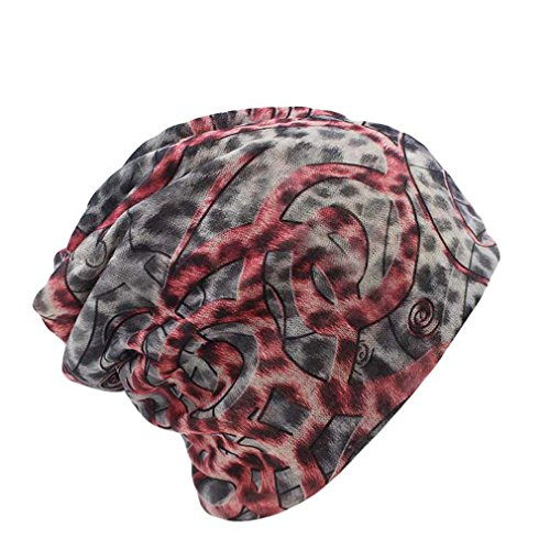EJKDF Mode Frauen Stricken warme Mütze Zwei verwendet Frau Flora Cap Beanie für Mädchen Herbst Caps Bonnet Red