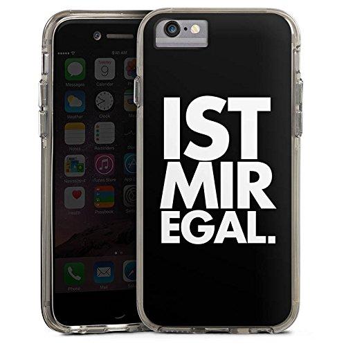 Apple iPhone X Bumper Hülle Bumper Case Glitzer Hülle Sprüche Sayings Phrases Bumper Case transparent grau