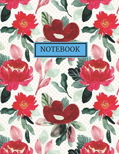RULED NOTEBOOK: Vintage Floral/Flowers Watercolor Designs, Journal, Notebook, (College Ruled), Vintage Flowers and Botanical Designs, Composition ... GUYS, MEN, WOMEN AND STUDENTS OF ALL AGE Floral Tulip-rock