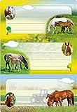 Herma 5568 Buchetiketten Schule, Motiv Pferde, Inhalt: 6 Schuletiketten für Schulhefte, Format 7,6 x 3,5 cm, beglimmert