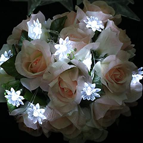 Ailimi- 1.2m lampada variopinta luce della stringa 10-LED Lotus Flower Stephanie Copricapo Della Sposa