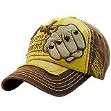 gorras beisbol, Sannysis Gorra para hombre mujer Sombreros de verano gorras de camionero de Hip Hop Impresión bordada, talla única (Marrón embroidered rivet)