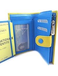 Francinel [L8720] - Portefeuille 'Les Bicolores' jaune bleu
