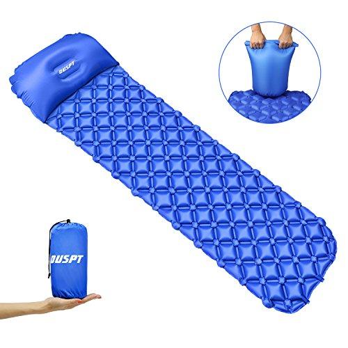 OUSPT Camping Aufblasbare Isomatte,Ultraleicht Mat mit Kissen Wasserdichte Komfortable Isomatte,Aufblasbare Luftmatratze Schlafmatte matratze