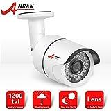 ANRAN seguridad cámara de vigilancia de exterior CCTV 1/2.7'CMOS HD 1200TVL 3.6mm objetivo gran angular IR-CUT color visión impermeable IP66sistemas seguridad para el hogar