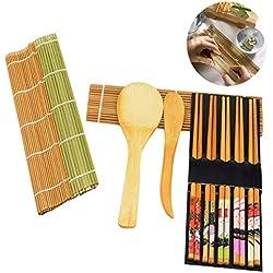 Osuter 10PCS Sushi Kit, Preparare Sushi Sicurezza Sushi Maker Durevole per Principiante Amanti del Cibo Professionisti